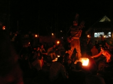 "Lighting the ""burning man"" on fire"